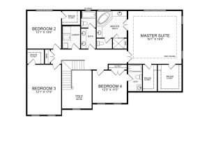 Proposed second floor plan for 1417 Gary Rd Potomac, MD