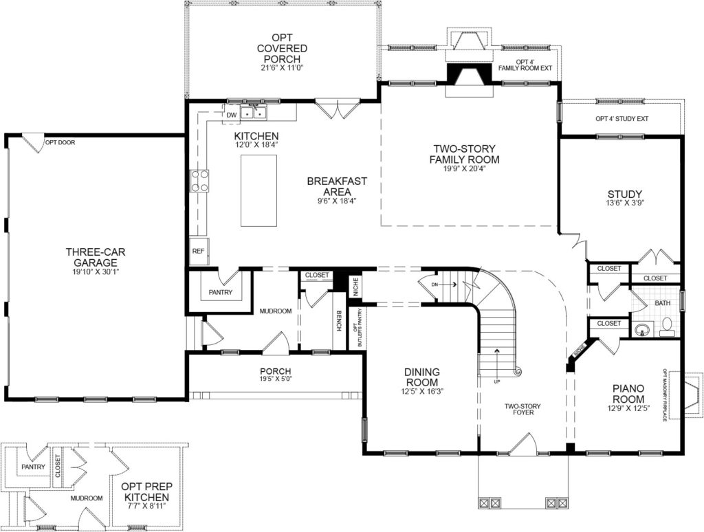 first floor plan of the proposed home for this Briarbush drive package