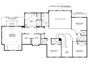 Second floor plan of the proposed home for this Briarbush drive package