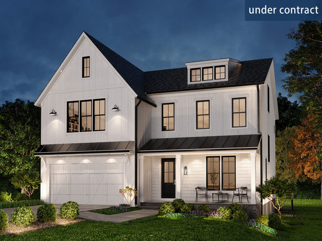 exterior rendering of the Willow model at 6012 Wilmett Dr Bethesda MD 20814