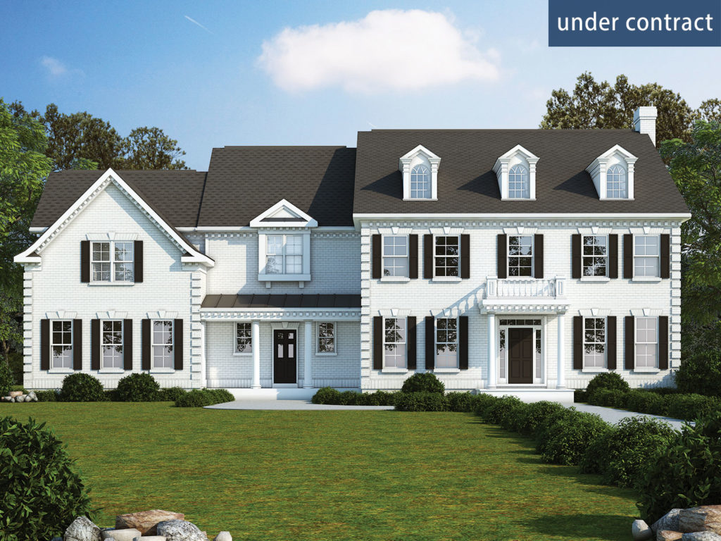 Exterior rendering of the proposed home for 12345 Briarbush Ln, Potomac, MD 20854