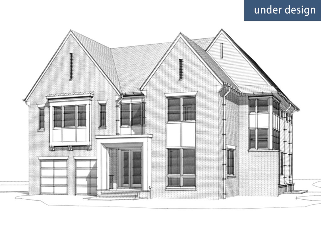 An exterior 3D drawing of the proposed home for 7707 Geranium St, Bethesda, MD 20814
