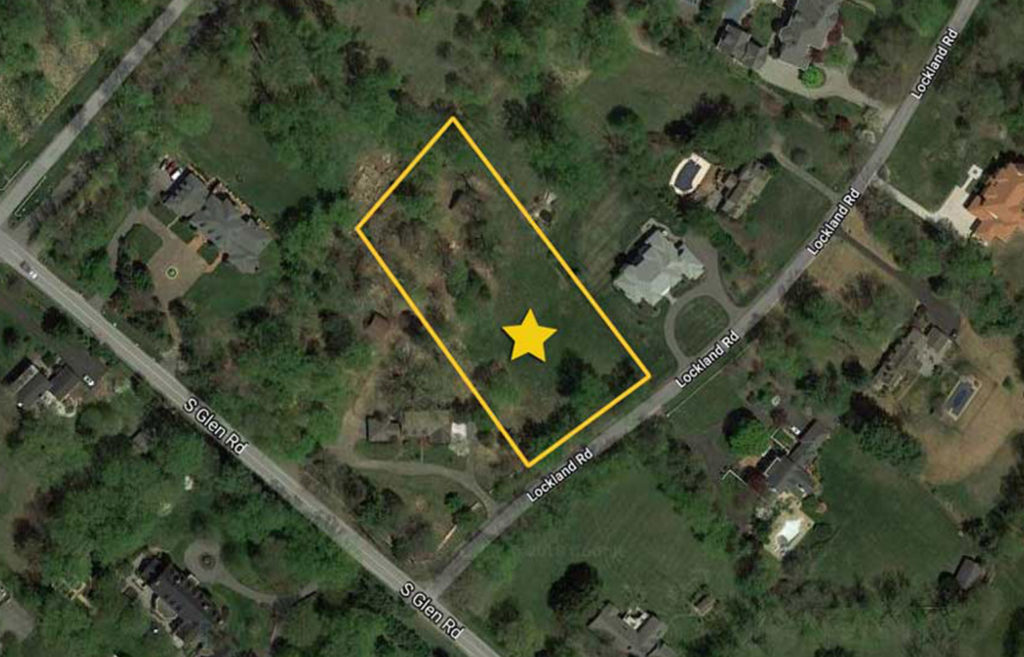 aerial showing site outline for 10704 Lockland Dr