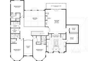 Second floor plan of the proposed home for the listing.